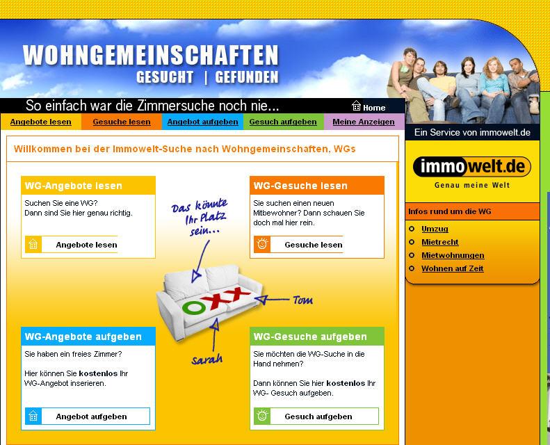 Immowelt AG sucht neues Design für Wohngemeinschaft.de