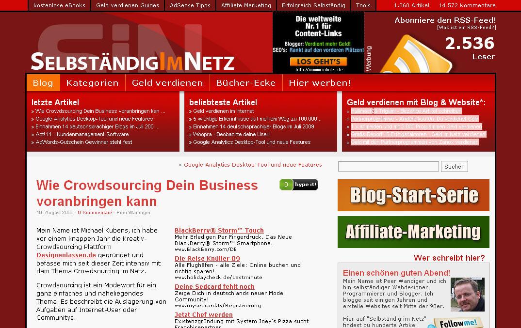 """Gastbeitrag für """"Selbstaendig-im-Netz.de"""""""