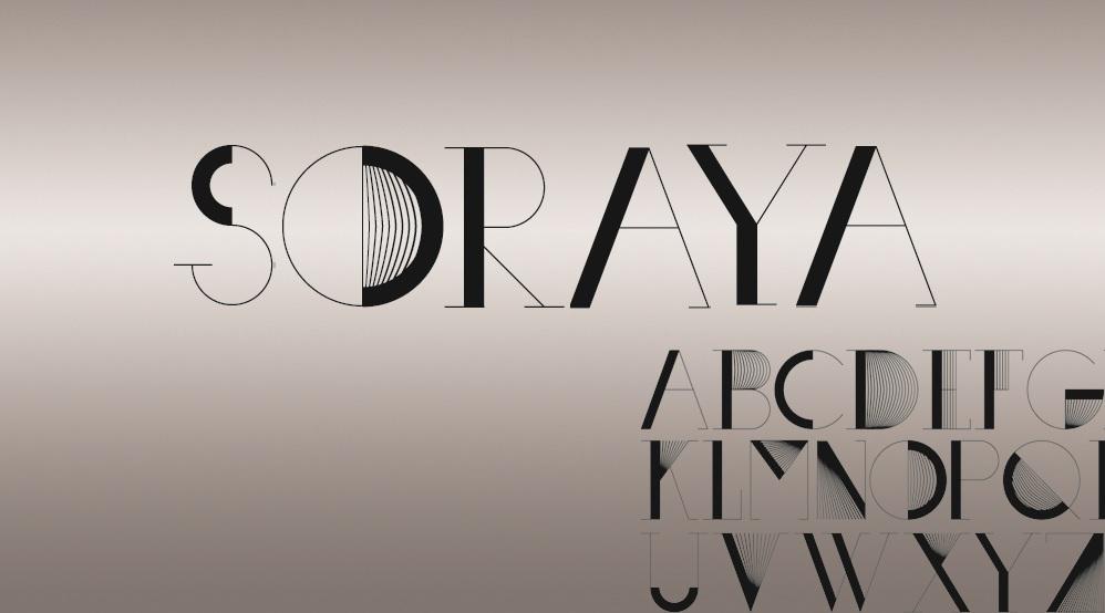 Soraya Retro Font 30er Jahre