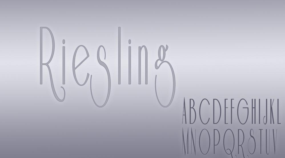 Riesling Retro Font 40er