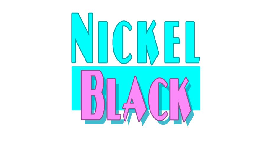 80er Retro Font NickelBlack