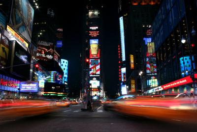 Reizüberflutung von Werbung am Times Square, New York