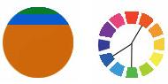Farbschema Teilkomplementär
