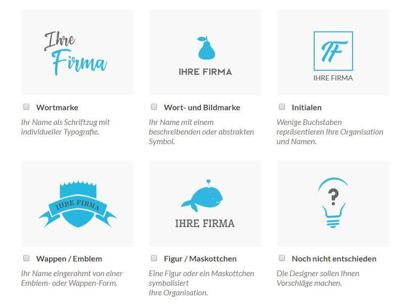 Logo-Elemente Logotypen Arten