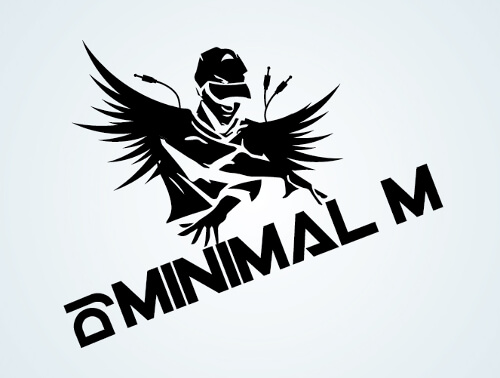 Street Style DJ Logo Minimal M