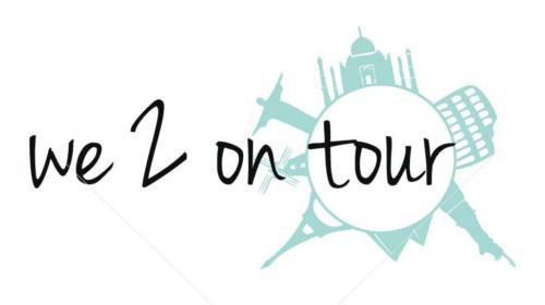 Logo-Design Reiseblog we 2 on tour