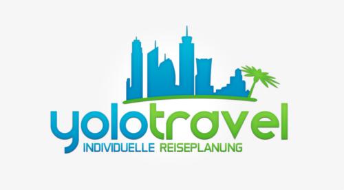 Logo-Design Reiseportal YOLO Travel Individuelle Reiseplanung