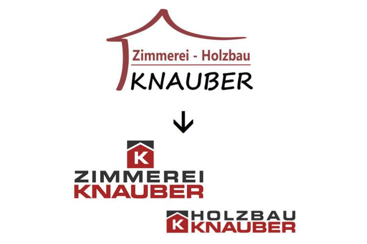 Logo Redesign_Zimmerei_Holzbau_Knauber