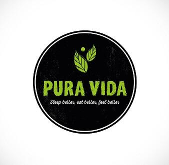 hotel und restaurant logo design vida pura