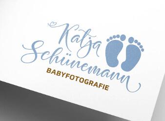 Babyfotograf Logo Design Katja Schünemann
