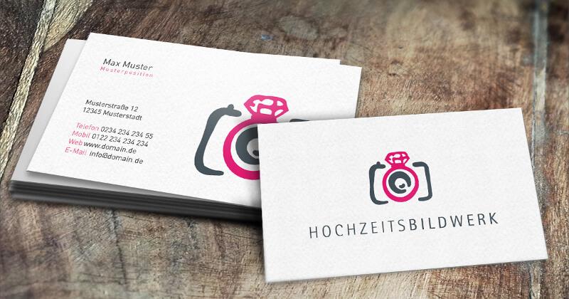 Hochzeits Fotografin Logo Hochzeits Bildwerk