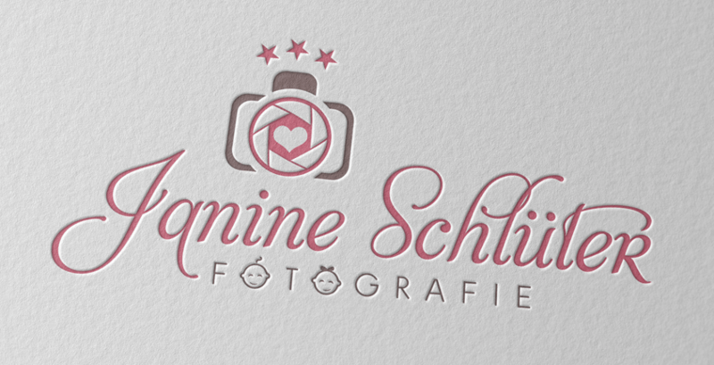Janine Schlüter Babyfotografin Logo Design
