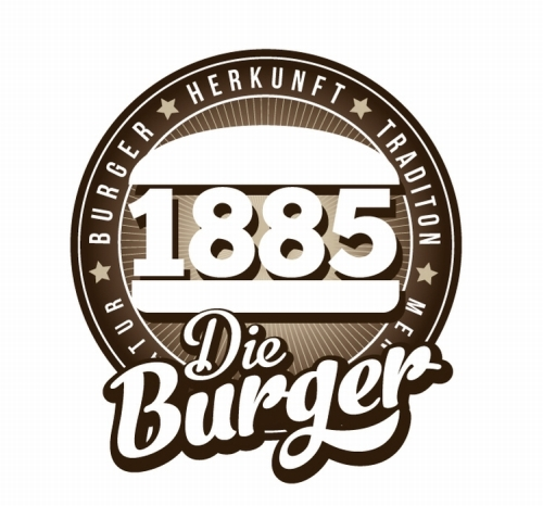 1885 Burger Restaurant Logo Design