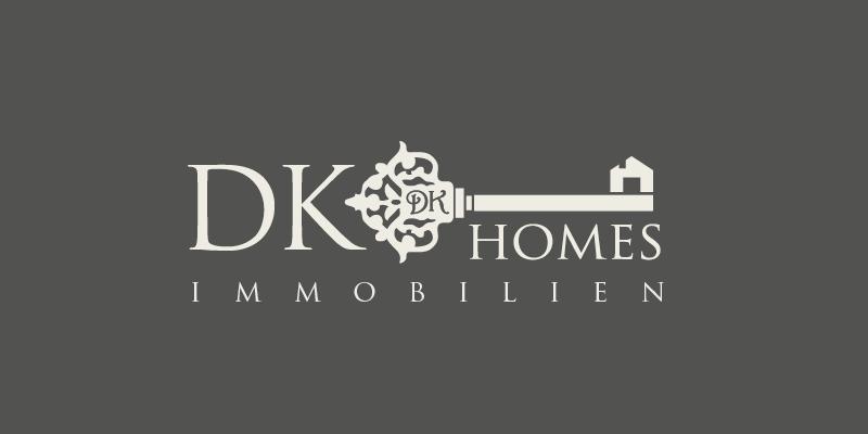 Logo-Design Immobilienmakler DK Homes