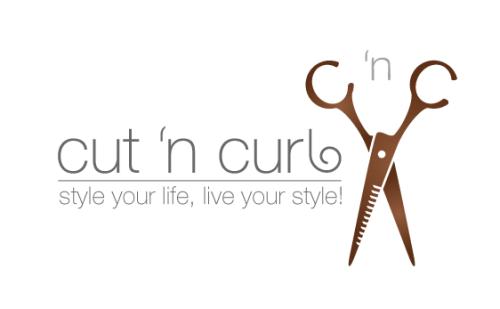Logo-Design mit Schere und Abkürzung