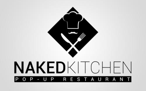 Naked Kitchen Restaurant Logo Design