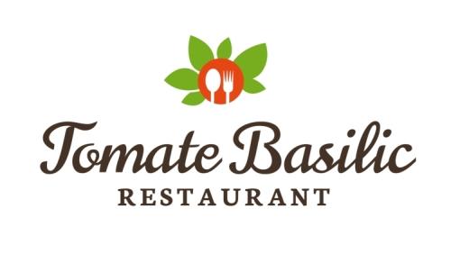 Restaurant Logo Tomate Basilic