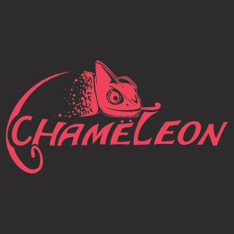 chameleon logo pop band