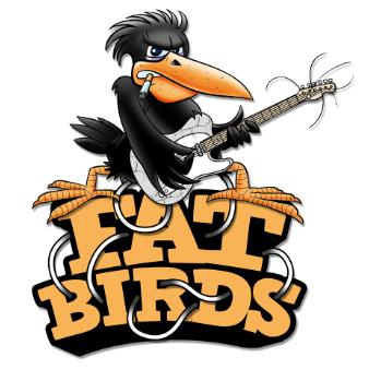 fat birds band logo design