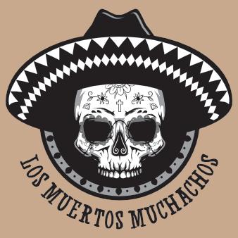 sombrero logo design totenkopf band