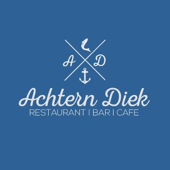 Achtern Diek Restaurant Logo Design Meer