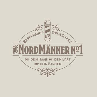Barber Shop Logo Nordmänner