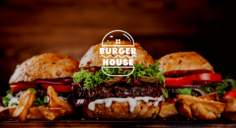 Burger Logo Burger House Restaurant