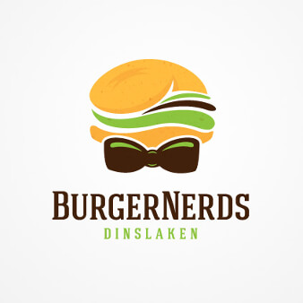 Burger Logo Design Burger Nerds