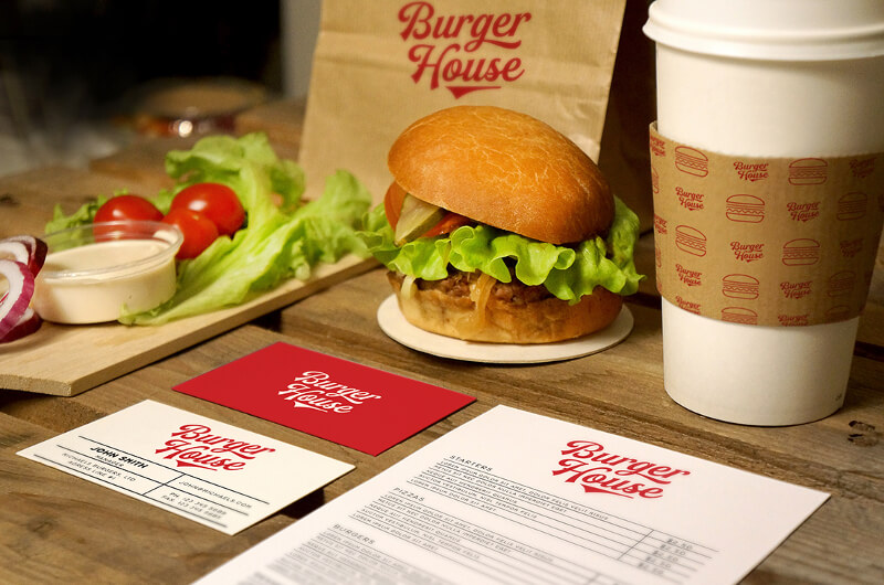 Burger Logo Design Restaurant