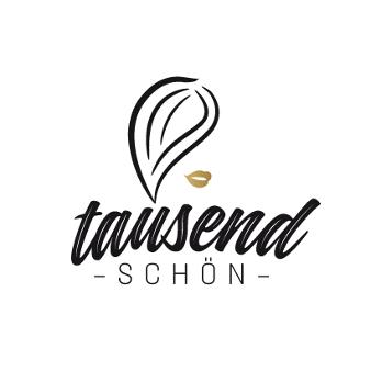 Friseur Salon Logo mit Schwung tausendschön