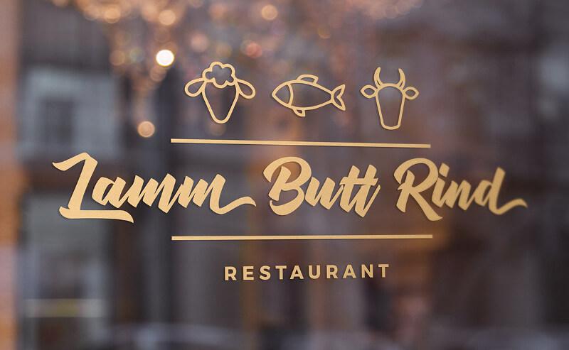 Lamm Butt Rind Gasthaus Logo