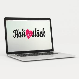 Logo-Design mit Schere HairZstück
