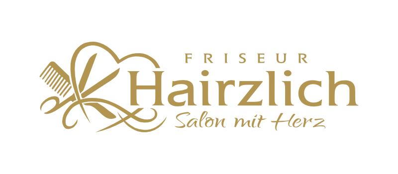 Logo-Design mit Schere Hairzlich