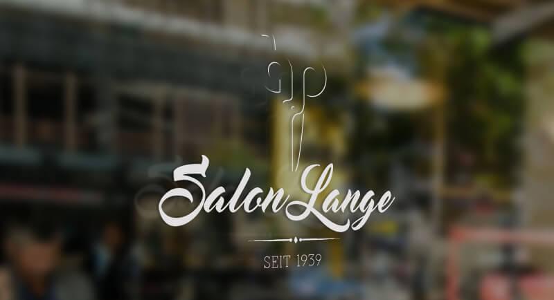 Logo-Design mit Schere Salon Lange