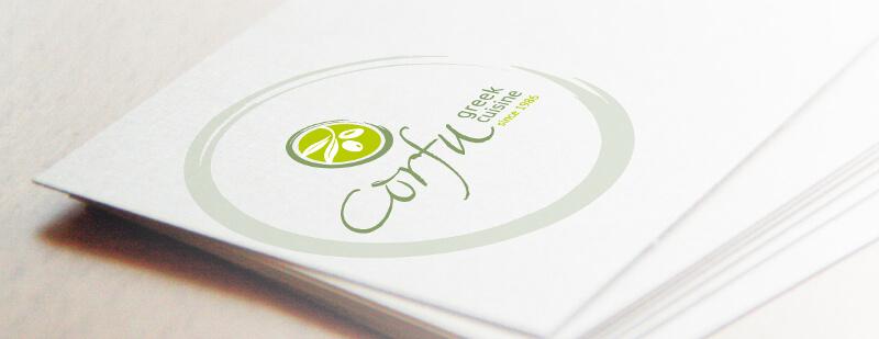 Logos griechisch Restaurant Logo Corfu