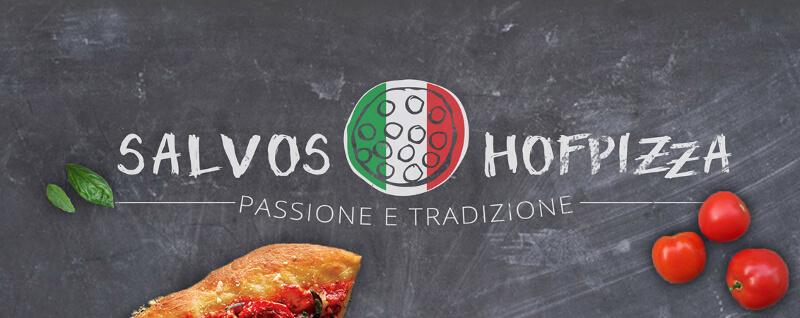 Pizza Logo Design Salvos Hofpizza Pizzeria