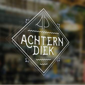 Restaurant Logo Achtern Diek MockUp