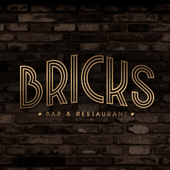 Restaurant Logo Wortmarke Bricks