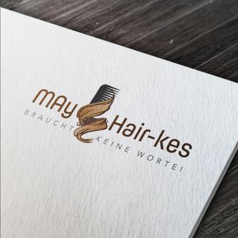 Schwungvolles Friseur Logo verspielt