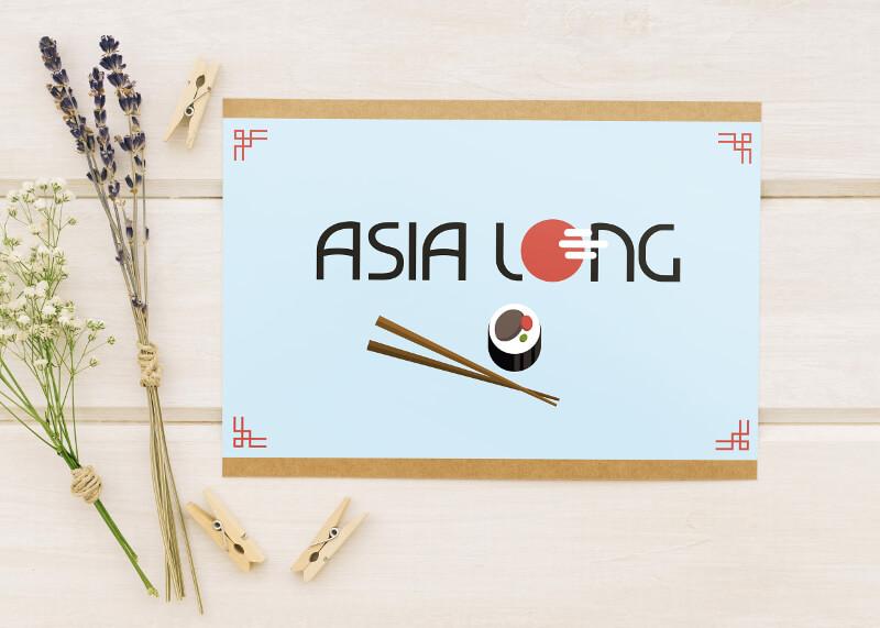 Sushi Logo Asia Long