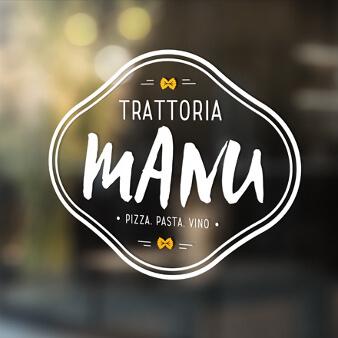 Trattoria Logo Design Trattoria Manu