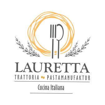Trattoria Logo Lauretta Pasta Manufaktur