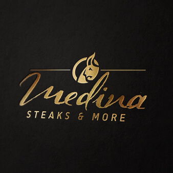 logo design steakhouse medina