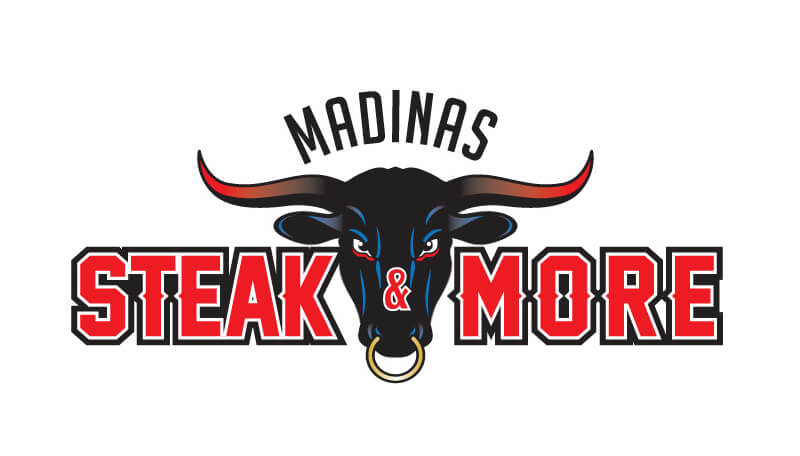 madinas steakhouse logo design