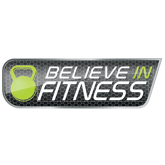 believe in fitness logo design