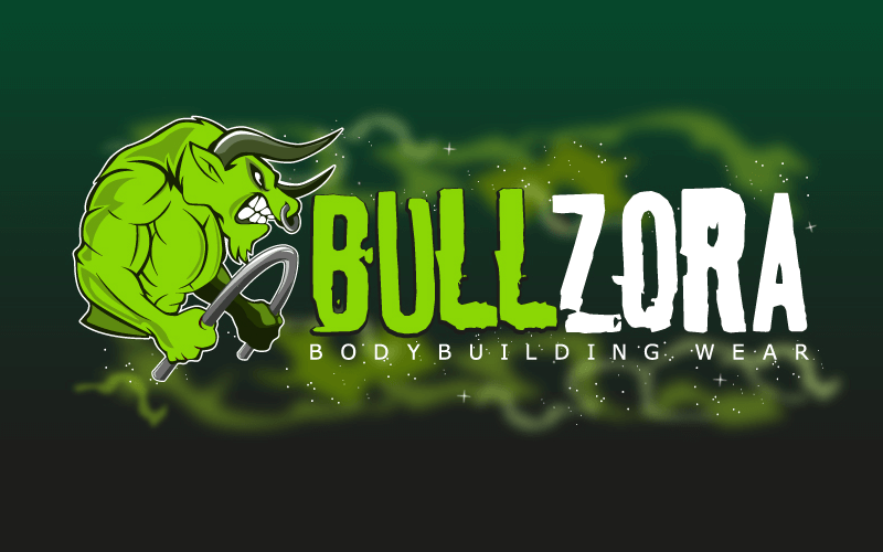 bullzora design bodybuilding logo