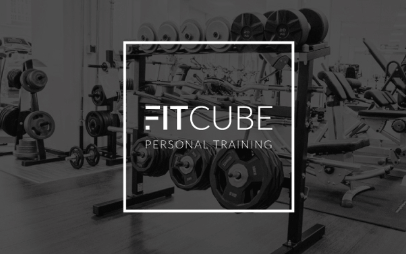 fit cube design logo personal trainer fitness