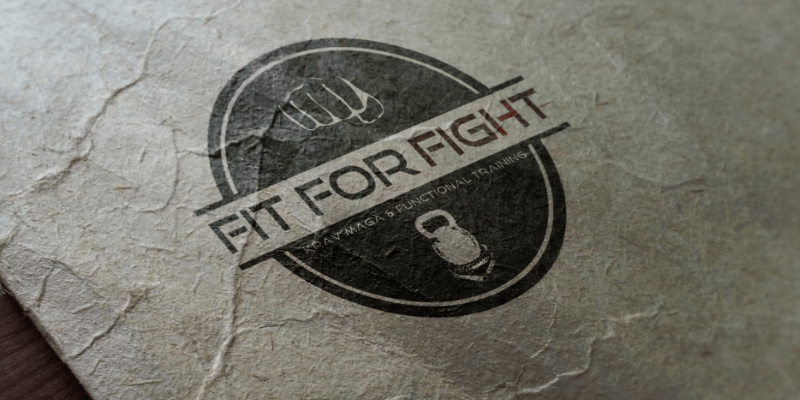 fitness logo sport design fight