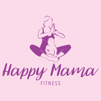 happy mama logo design fitness