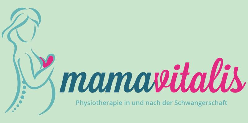 mama vitalis logo design schwangerschaft sport